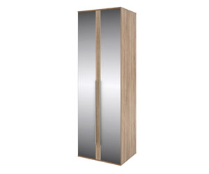 HomeMe Шкаф со штангой Бали (зеркало/дуб сонома)