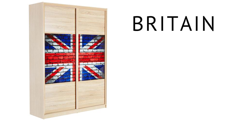 HomeMe 2-х дверный BRITAIN 180 см. (ясень)