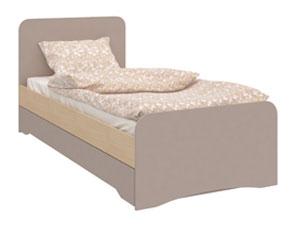 HomeMe Кровать Венера-1 200х90 (Капучино/Дуб молочный)
